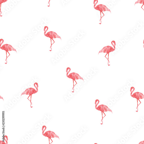 Canvas Prints Flamingo Seamless patterns with pink flamingo