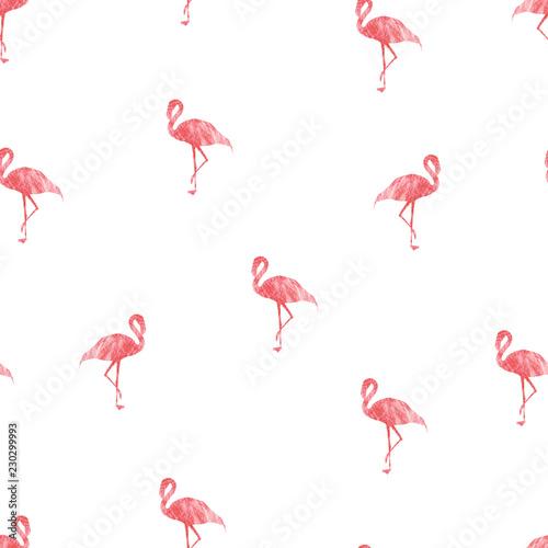 Canvas Prints Flamingo Bird Seamless patterns with pink flamingo
