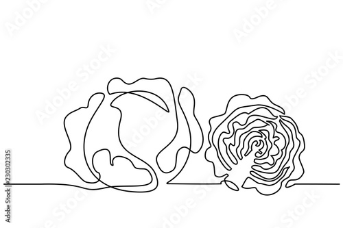 Foto Continuous one line drawing