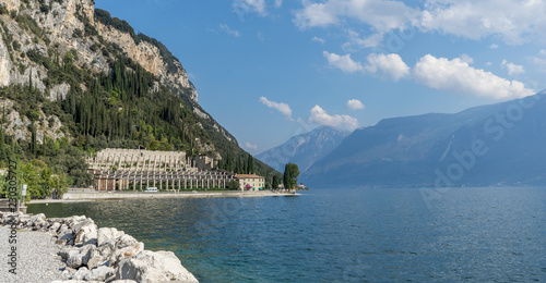 Landscape with lemon house of Tignale at Lake Garda in Italy