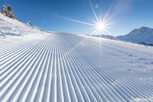 Fresh Snow On Ski Slope During...