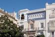 Straßenansicht und Häuser in Cádiz