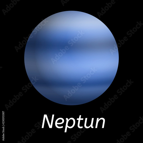 Fotografie, Obraz  Neptun planet icon
