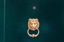 Decorative Gilded Lion Head Do...