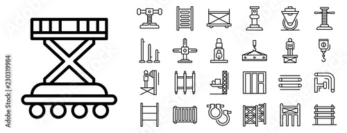 Fotografia Scaffolding icon set