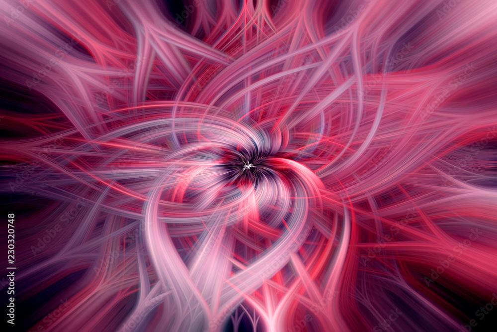 Retro abstract whirls and swirls