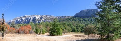 Panoramic view on Saint Baume, France. Fototapeta