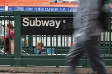 New York Subway Sign People Wa...