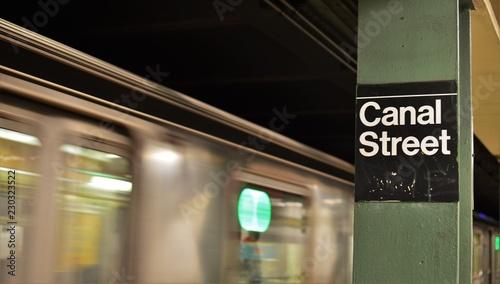 Canal Street NYC Chinatown MTA New York Subway Tourist Visit
