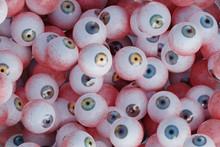 Background Of Many Eyeballs. 3D Rendered Illustration.