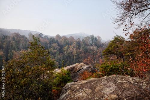 Blue Ridge Mountains at Tallulah Gorge in North Georgia USA