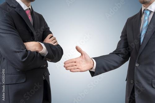 Vászonkép  Handshake refuse
