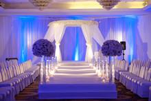 Beautiful Photo Of The Jewish Hupa , Wedding Putdoor .