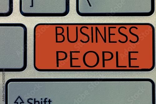 Valokuva  Writing note showing Business People