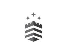 Castle Logo Vector Icon Illustration Design