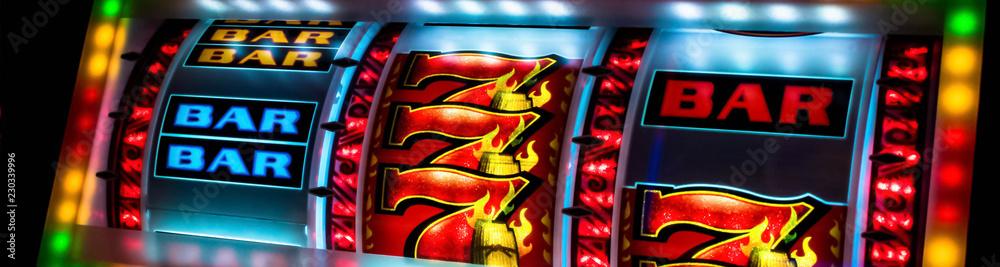 Fototapety, obrazy: Casino slot machine display