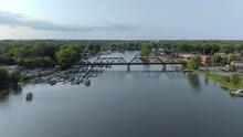 Aerial, 4k Train Bridge Flyove...