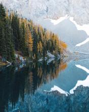 Lake Reflecting Mountain Lands...