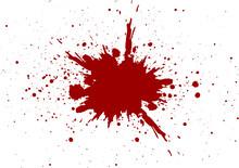 Vector Blood Splatter Isolated...