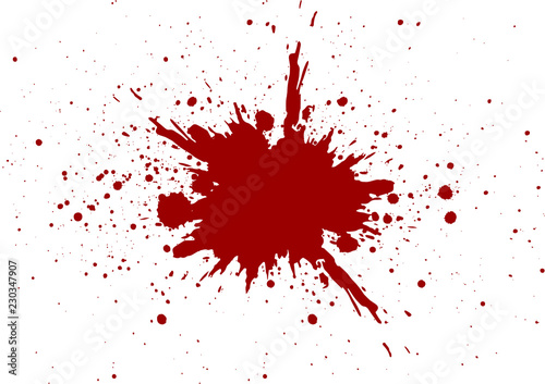 Fotografia vector blood splatter isolated design. illustration vector design
