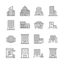 Building Line Icon 30x30 Pixel. Vector Illustration.