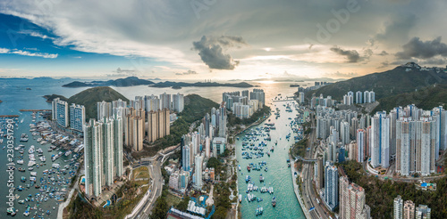 Sunset of Aberdeen, Hong Kong Wallpaper Mural