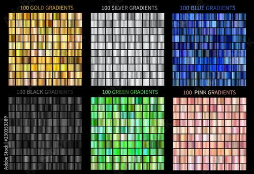 Super megaset of colorful gradients vector gold, silver, blue, bronze Canvas Print