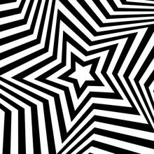 Vector Op Art Star Background....