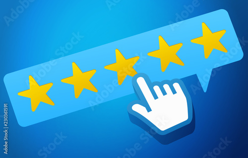 Tablou Canvas User Customer Review Product Rating Feedback Concept