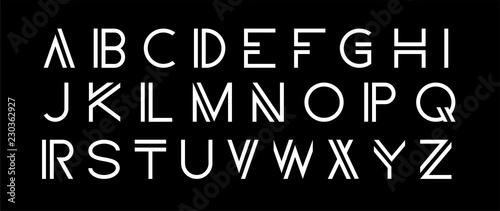 Fotografie, Tablou Vector modern set. Modern abstract font, alphabet.