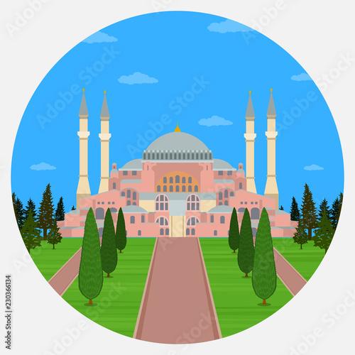 Valokuvatapetti Hagia Sophia in Istanbul