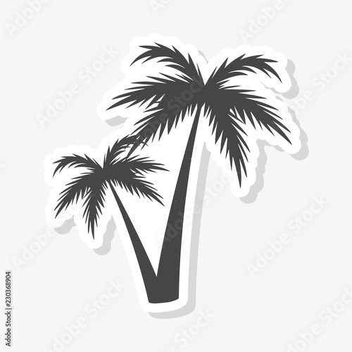 Silhouette palm tree, Palm tree sticker Wall mural