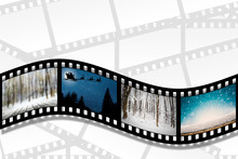 A Filmstrip On The White Backg...