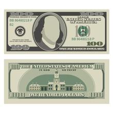 One Hundred Dollar Bill. 100 D...