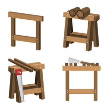 Sawhorses For Carpenters And J...