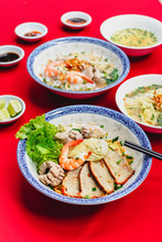 Set Of Vietnamese Noodles With...