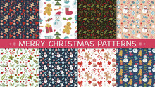 Christmas Set Pattern With Gin...