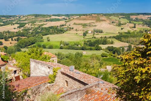 campagne française vue de Cordes-sur-Ciel, Tarn, Occitanie