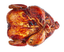 Roasted Chicken Isolated On White Background