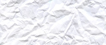 White Crumpled Paper Texture