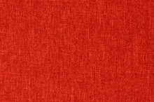 Red Textile  Texture For Background With Visible Fibers.