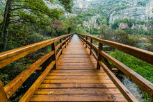 Wooden Bridge In Krka National...