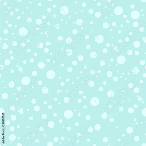 seamless background pattern, with circles/dots snowflakes,, strokes and splashes