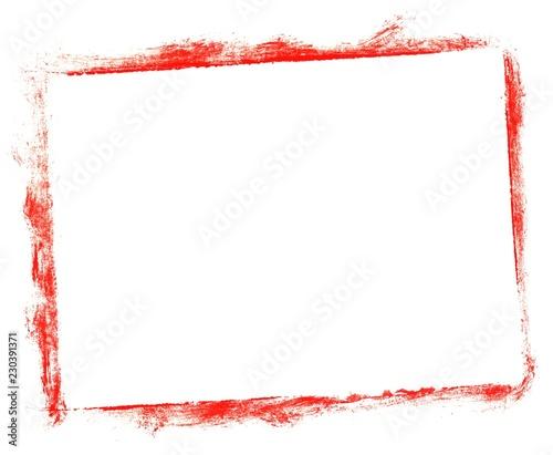 Photo  Unordentlich gemalter Kasten mit roter Farbe