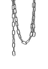 Metal Chain Isolated On White Background With Clipping Path