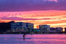 Pink Sunset At Tempe Town Lake