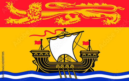 Vector flag of New Brunswick province, Canada