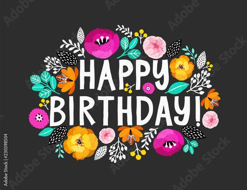 Happy Birthday Beautiful Greeting Card With Hand Written