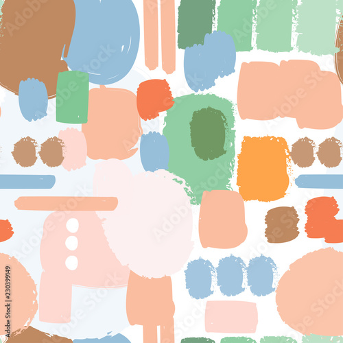 Colored abstract shapes. Vector seamless pattern Fototapete