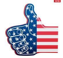 Fan Foam Finger Like With USA ...